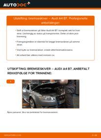 Slik bytter du Bremseskiver på AUDI A4