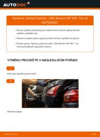 Jak provést výměnu: Uložení Tlumičů na 1.9 JTDM 8V (937.AXD1A, 937.AXU1A, 937.BXU1A) Alfa Romeo 147 937