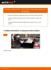 Jak provést výměnu: Vzpery Kufra na 2.0 TDI 16V Audi A4 B7 Sedan