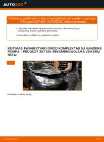Kaip atlikti keitimą: 1.6 HDI 110 Peugeot 307 SW Paskirstymo diržas / komplektas