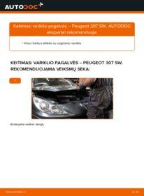 Kaip atlikti keitimą: 1.6 HDI 110 Peugeot 307 SW Variklio montavimo rėmas