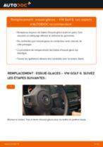 Manuel en ligne pour changer vous-même de Balais d'essuie-glace sur VW GOLF VI (5K1)