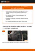 Come cambiare spazzole tergicristallo della parte anteriore su VW Golf 6 - Guida alla sostituzione