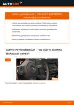 Kuinka vaihtaa pyyhkijänsulat eteen VW Golf 6-autoon – vaihto-ohje