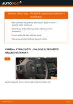 Jak vyměnit přední stírací lišty na VW Golf 6 – návod k výměně