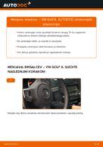Kako zamenjati avtodel brisalce spredaj na avtu VW Golf 6 – vodnik menjave