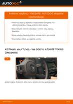 Kaip pakeisti VW Golf 6 valytuvų: priekis - keitimo instrukcija