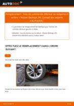 Comment changer : bras de commande inférieur de suspension arrière sur Nissan Qashqai J10 - Guide de remplacement