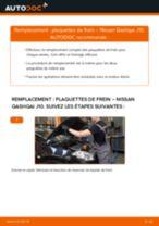 Comment changer : plaquettes de frein arrière sur Nissan Qashqai J10 - Guide de remplacement