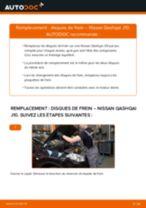 Comment changer : disques de frein arrière sur Nissan Qashqai J10 - Guide de remplacement