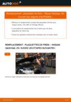 Comment changer : plaquettes de frein avant sur Nissan Qashqai J10 - Guide de remplacement