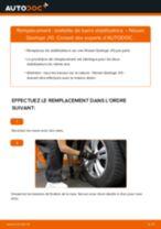 Comment changer : biellette de barre stabilisatrice avant sur Nissan Qashqai J10 - Guide de remplacement