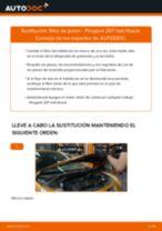 Cómo cambiar: filtro de polen - Peugeot 207 hatchback | Guía de sustitución