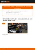 DIY NISSAN change Air Filter - online manual pdf