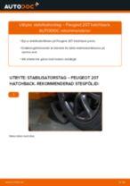 Byta stabilisatorstag fram på Peugeot 207 hatchback – utbytesguide