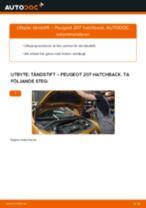 Byta tändstift på Peugeot 207 hatchback – utbytesguide