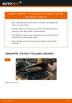 Byta kupéfilter på Peugeot 207 hatchback – utbytesguide