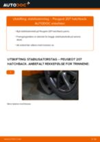 Hvordan bytte og justere Stabstag PEUGEOT 207: pdf håndbøker