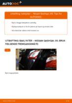 Når skifte Baklykt NISSAN QASHQAI / QASHQAI +2 (J10, JJ10): pdf håndbok
