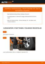Skifte Bremsecaliper Reparasjonssett NISSAN QASHQAI: verkstedhåndbok
