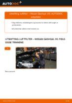 PDF med trinn for trinn-veiledning for bytte av Nissan Qashqai j10 ABS Sensor