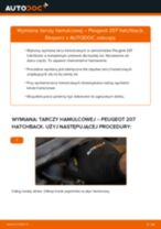 Jak wymienić tarcze hamulcowe przód w Peugeot 207 hatchback - poradnik naprawy
