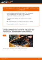 Jak vyměnit zadní brzdové kotouče na Peugeot 207 hatchback – návod k výměně