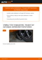 Jak vyměnit přední tyčky stabilizátora na Peugeot 207 hatchback – návod k výměně