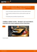 Jak vyměnit vzpery kufru na Peugeot 207 hatchback – návod k výměně