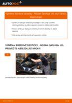 Jak vyměnit zadní brzdové destičky na Nissan Qashqai J10 – návod k výměně