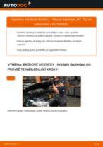Jak vyměnit přední brzdové destičky na Nissan Qashqai J10 – návod k výměně