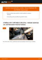 Jak vyměnit kryt zpětného zrcátka na Nissan Qashqai J10 – návod k výměně