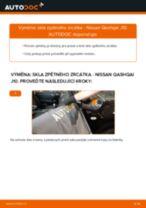 Jak vyměnit sklo zpětného zrcátka na Nissan Qashqai J10 – návod k výměně