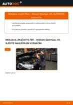 Zracni filter NISSAN Qashqai / Qashqai +2 I (J10, NJ10) | PDF vodič za zamenjavo