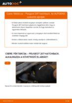 Elülső féktárcsák-csere Peugeot 207 hatchback gépkocsin – Útmutató
