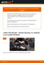 Hátsó féktárcsák-csere Nissan Qashqai J10 gépkocsin – Útmutató