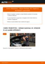 Lépésről-lépésre PDF-útmutató - NISSAN QASHQAI / QASHQAI +2 (J10, JJ10) Fékbetét csere