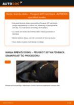 Kā nomainīt: priekšas bremžu diskus Peugeot 207 hatchback - nomaiņas ceļvedis