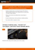 Kaip pakeisti Peugeot 207 hatchback stabdžių diskų: priekis - keitimo instrukcija
