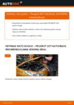 Kaip pakeisti Peugeot 207 hatchback rato guolio: galas - keitimo instrukcija