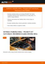 Kaip pakeisti Peugeot 207 hatchback stabdžių diskų: galas - keitimo instrukcija