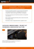 Wie Verschleißanzeige Bremsbeläge PEUGEOT 207 tauschen und einstellen: PDF-Tutorial