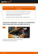 ABS Sensor wechseln PEUGEOT 207: Werkstatthandbuch