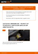Wie Peugeot 207 Schrägheck Bremsbeläge vorne wechseln - Anleitung
