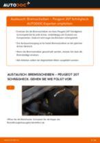 Wie Peugeot 207 Schrägheck Bremsscheiben vorne wechseln - Anleitung