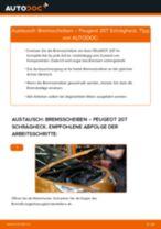 Wie Peugeot 207 Schrägheck Bremsscheiben hinten wechseln - Anleitung
