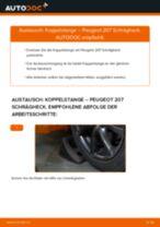 Wie Peugeot 207 Schrägheck Koppelstange vorne wechseln - Anleitung
