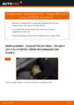 Comment changer : plaquettes de frein avant sur Peugeot 207 3 ou 5 portes - Guide de remplacement