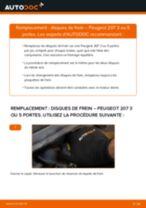 Comment changer : disques de frein avant sur Peugeot 207 3 ou 5 portes - Guide de remplacement
