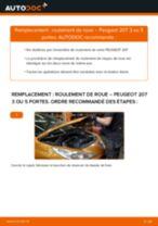 Comment changer : roulement de roue arrière sur Peugeot 207 3 ou 5 portes - Guide de remplacement